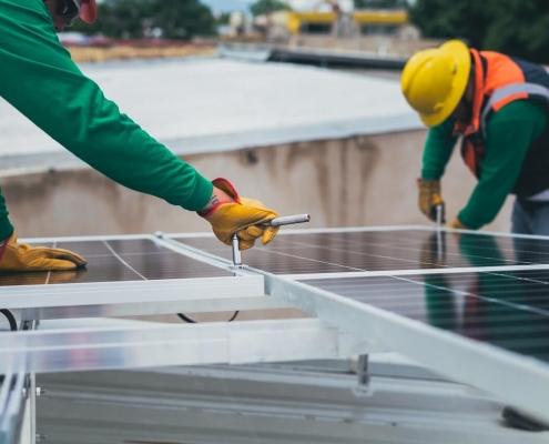 mantenimiento de los paneles solares